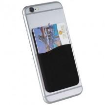 Slim Silikon Kartenfach - schwarz