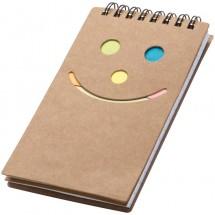 Notizbuch Smile Gesicht - braun