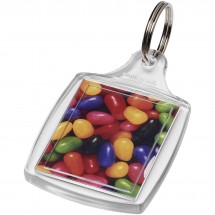 Mode klassischer Kunststoff-Schlüsselanhänger - transparent klar