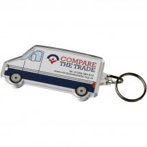 Combo Schlüsselanhänger in Van-Form - transparent klar