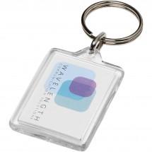 Midi kompakter Kunststoff-Schlüsselanhänger - transparent klar