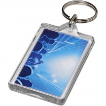 Luken wieder öffenbarer Kunststoff-Schlüsselanhänger - transparent klar