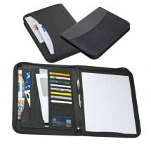 Schreibmappe mit Block - schwarz