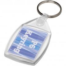 Lita Kunststoff-Schlüsselanhänger mit Metallclip - transparent klar