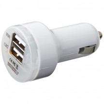 Dual USB Charger - weiss