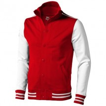 Varsity College Jacke - rot,offwhite