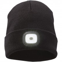 Mighty LED knit beanie, Black - schwarz