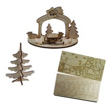 3D Holzpuzzle Krippe