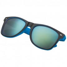 Sonnebrille bicolour mit verspiegelten Gläsern - blau