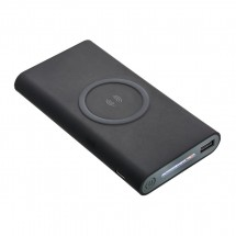 Wireless charging powerbank REFLECTS-KIEV BLACK 8000 mAh