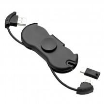 Spinner Kabel 3in1 REFLECTS-MOLFETTA BLACK