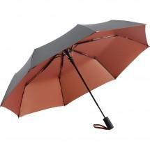 AC-Mini-Taschenschirm FARE®-Doubleface - grau/kupfer