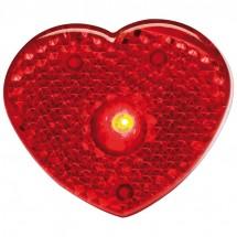 Herzförmiges Ansteckblinklicht - rot