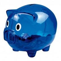 Sparschwein transparent - blau