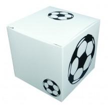 Rasender Fußball in Präsentpackung - weiß