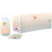 Lichtrolle Stern, ohne Kuvert - weiß