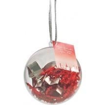 Weihnachtskugel Backförmchen - rot