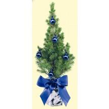 Festliches Bäumchen blau 20-30 cm - silber