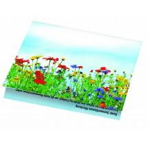 Klappkärtchen Blumenstrauß - blau
