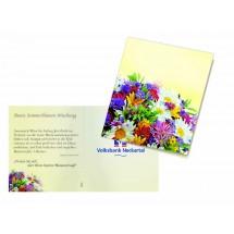 Klappkärtchen Bunte Blumenwelt - gelb