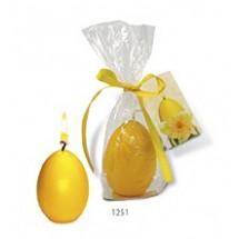 Ei-Kerze - Frohe Ostern - gelb