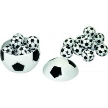 Fußball mit 11 Schoko-Fußbällen - weiß
