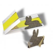 Bastelkarte Hase (ohne Kuvert) - gelb