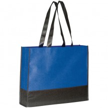Non Woven Einkaufstasche 2-farbig - blau