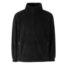 Kids Outdoor Fleece Full Zip - schwarz
