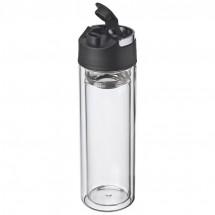 Doppelwandige Glasflasche - transparent