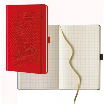 Notizbuch IVORY kariert, medium - rot