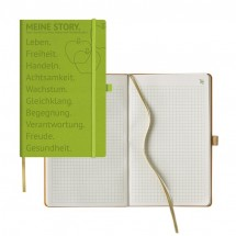 Appeel Notizbuch kariert, medium - 742 Granny Smith