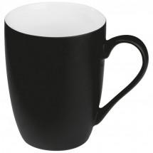 Tasse außen gummiert - schwarz