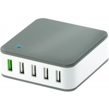 5 Port-USB Quickcharger - weiß