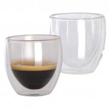 2er Set Espressotassen doppelwandig - transparent