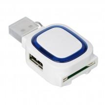 USB-Hub mit 2 Anschlüssen und Speicherkartenlesegerät REFLECTS-COLLECTION 500