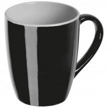 Tasse außen farbig, innen weiß - schwarz