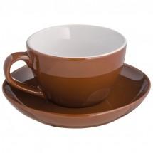 Tasse mit Untersetzer - braun