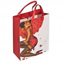 Geschenktüte Mann/Frau mit Steinchen -