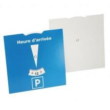 Karton-Parkscheibe Frankreich - blau/weiß