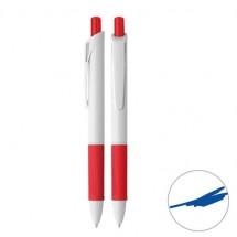 Druckkugelschreiber - weiß/rot