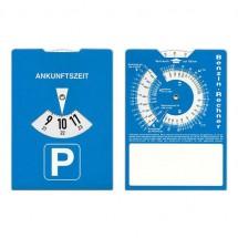 Karton-Parkscheibe - blau/weiß
