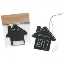 Kreidetafel Haus - schwarz