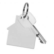 Schlüsselanhänger Haus - glasklar