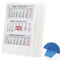 Tischkalender 4-sprachig - weiß/weiß