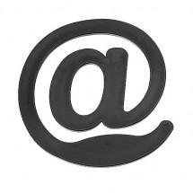 Briefklammer @-Zeichen - schwarz