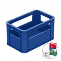 Zettelbox oder Bierdeckelständer - blau