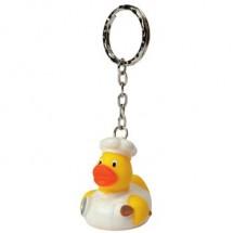 Schlüsselanhänger Quietsche-Ente Koch - gelb
