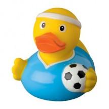 Quietsche-Ente Fußballer - gelb