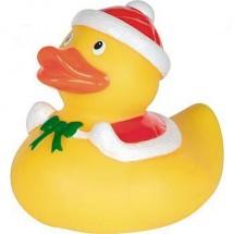 Quietsche-Ente Weihnachten, groß - gelb